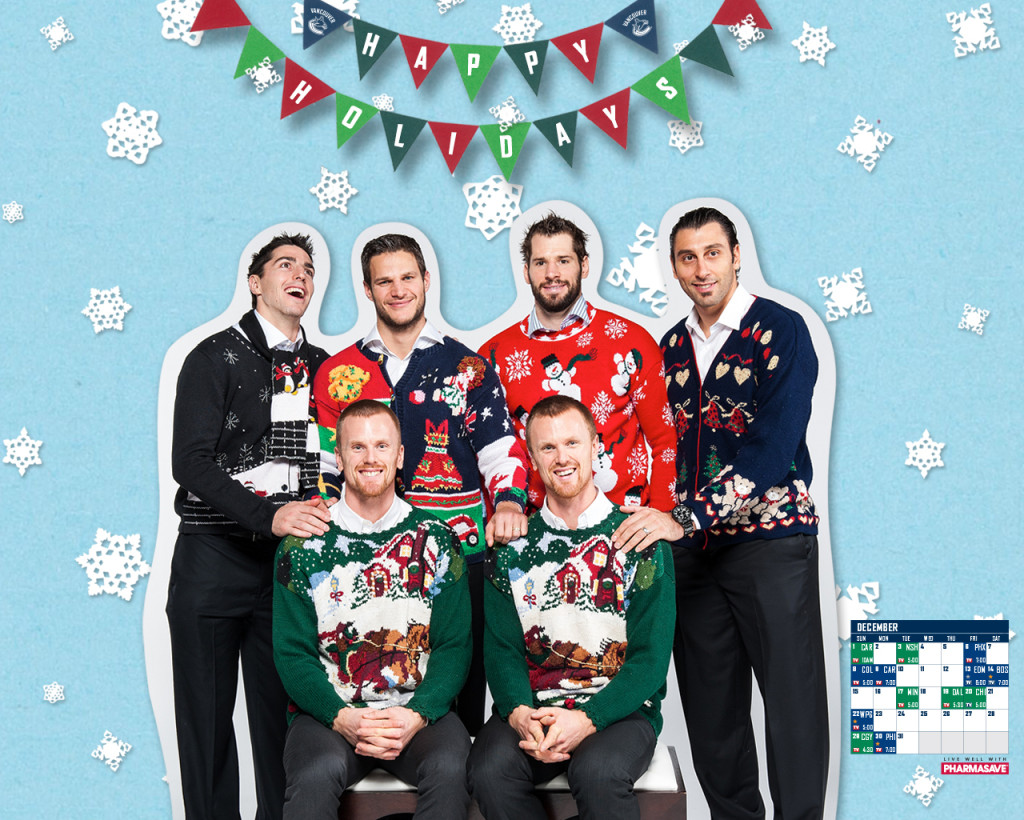 Happy Holidays from all of us at the Canucks Hockey Blog to you.