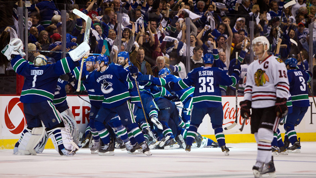 Vancouver Canucks beat the Chicago Blackhawks in 2011 NHL playoffs