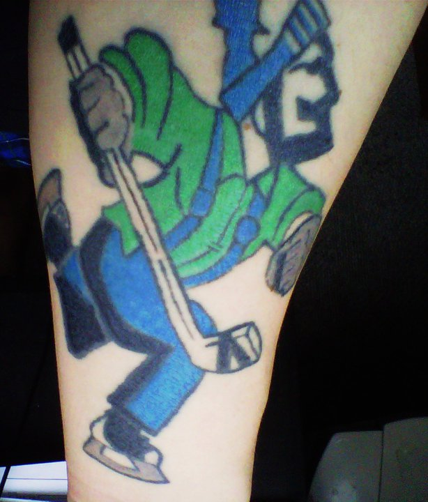 Johnny Canuck tattoo