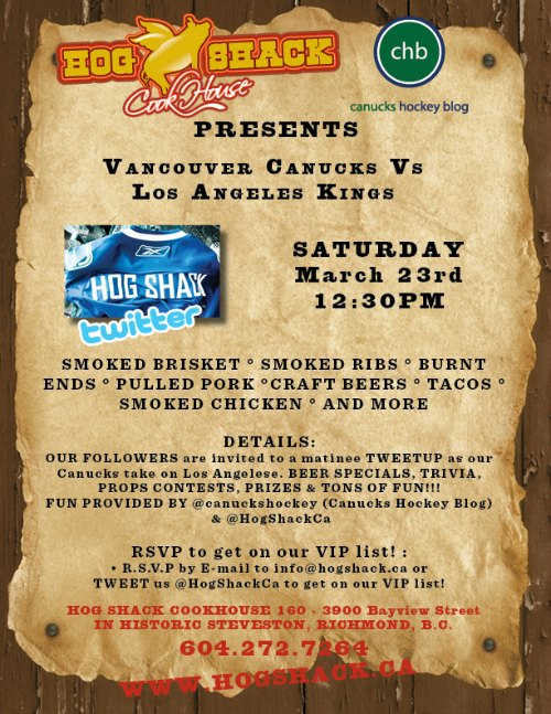 CHB and Hog Shack Tweetup - Mar 23