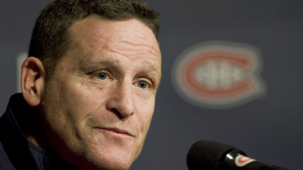 Randy Cunneyworth at a Montreal press conference, Globe and Mail.